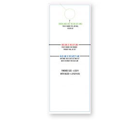 Door Hanger Die Cut Design Printing Free Door Hanger Template - Free door hanger template