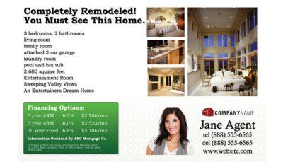 Real Estate Listing Postcard 002 Custom Printing Request