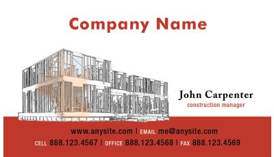 Building And Construction Business Card Custom Printing Request - Construction business cards templates free