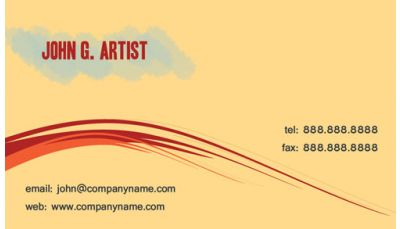 This business card design for artists painters or graphic your professional business cards colourmoves