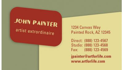 Painters and artists will love this business card design that your professional business cards reheart Choice Image