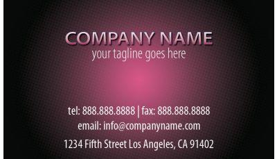 Entertainment business card pink orb custom printing request your entertainment business cards colourmoves