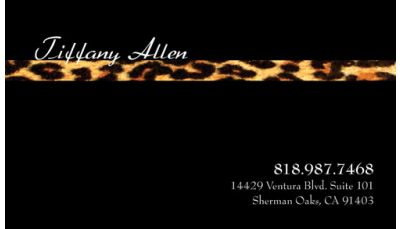 Personal business card leopard print custom printing request personal personal business card leopard colourmoves Image collections