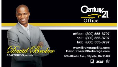 Century 21 Business Cards Real Estate Business Cards
