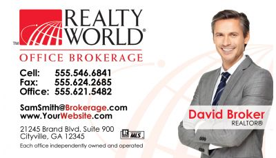 Realty World Business Cards 11 Real Estate Business Cards Photo