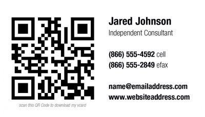QR Code Business Card 001