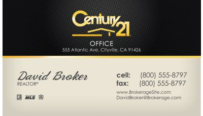 Century Business Cards Professional Designs Customized To You - Century 21 business cards template