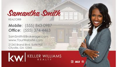 Keller williams real estate red photo custom printing request your real estate business cards colourmoves