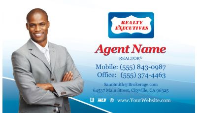 Realty executives red blue real estate photo custom printing request your real estate business cards colourmoves Images