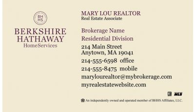 Berkshire Hathaway Business Card 01 Is Designed To Meet The Bhhs
