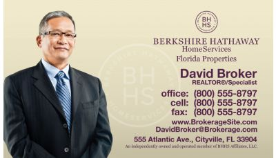 berkshire hathaway business card 04 includes a photo and gradient