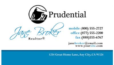 Prudential Business Card Template 005