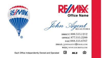 Remax business cards real estate business cards remax business real estate remax business card 014 reheart Gallery